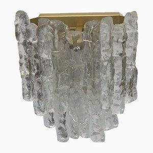 Lampada da parete a tre luci in vetro di J.T. Kalmar per Franken KG