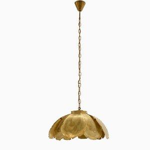 Scandinavian Brass Ceiling Light from Svend Aage Holm Soresen, 1970s