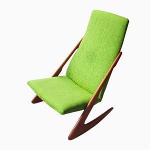 Rocking Chair Boomerang Vintage de Mogens Kold