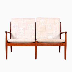 Loveseat 2-Seater Sofa by Grete Jalk for Glostrup, 1960s