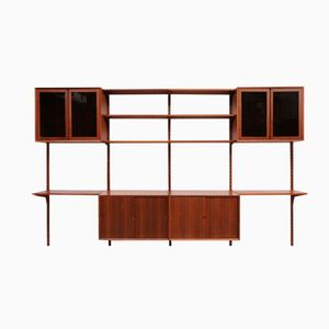 Vintage Danish Walnut Royal System Wall Unit by Poul Cadovius for Cado