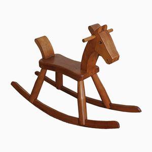 Danish Beech Rocking Horse by Kay Bojesen