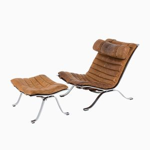 Fauteuil ARI Lounge Chair & Ottomane de Arne Norell, 1970