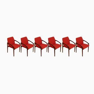 Rosewood Dining Chairs by Kai Kristiansen for Korup Stolefabrik,1965, Set of 6