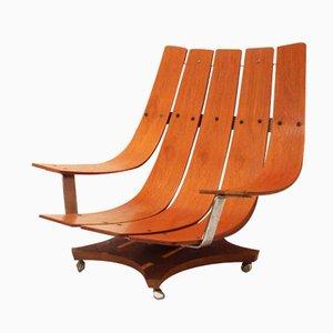 Modell G Plan Teak Armlehnstuhl von Ib Kofod Larsen, 1970er