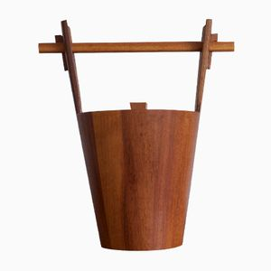 Italian Teak Ice Bucket by Anri Form, 1960s