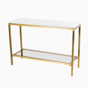 Vintage Carrare Marble Console Table, 1950s