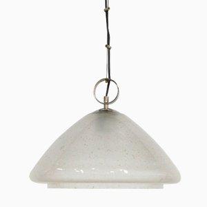 Vintage Bubbled Glass Pendant Light, 1970s