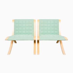 Ax Stühle von Orla Molgaard & Peter Hvidt für Fritz Hansen, 1980er, 2er Set