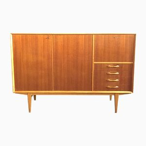 Danish Teak Sideboard with Shelves & Drawers, 1960s