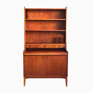 Danish Teak Secretaire with Shelves, 1960s