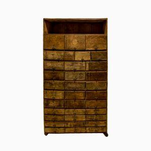 Antique Industrial Oak Cabinet
