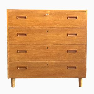 Danish Teak Chest with Four Drawers, 1960s