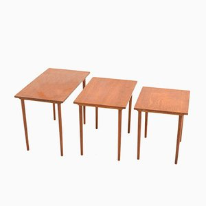 Vintage Teak Danish Nesting Tables