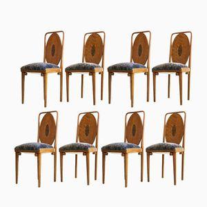 Chaises Antique de Jacob & Josef Kohn, Set de 8