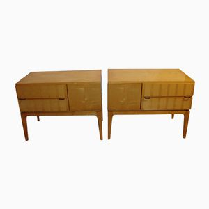 Mid-Century Wooden Bedside Tables, Set of 2