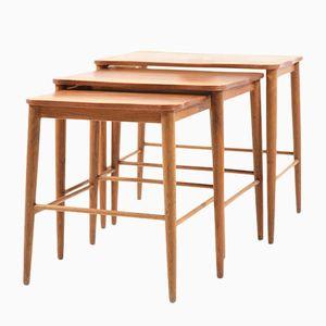 Vintage Danish Teak & Oak Nesting Tables