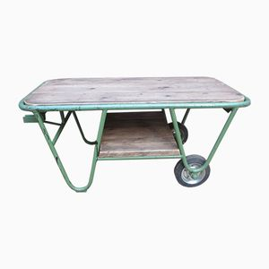 Vintage Green Factory Trolley