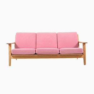 Mid-Century GE-290/3 Eichenholz Sofa von Hans J. Wegner für Getama