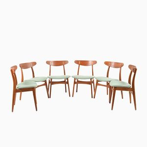 Mid-Century CH-30 Chairs by Hans Wegner for Carl Hansen, Set of 6