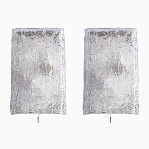 Murano Glass Wall Lamps by Paulo Venini, Set of 2