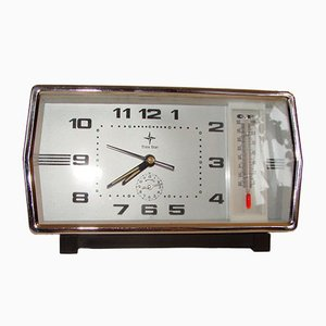 Horloge avec Thermomètre de Time Star, 1970s