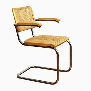 S64 Freischwingender Sessel von Marcel Breuer für Thonet, 1981