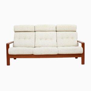 Danish Teak Three-Seater Sofa with Wool Upholstery, 1960s