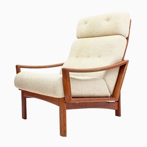 Vario High Back Teak Armchair by Grete Jalk for Glostrup Møbelfabrik | Møbel Fakta, 1960s