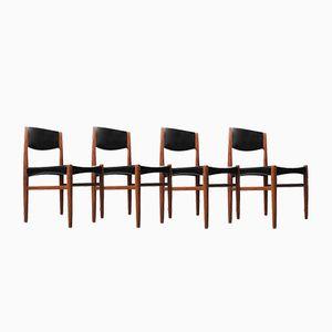 Danish Teak Chairs by Grete Jalk for Glostrup Møbelfabrik, 1960s, Set of 4