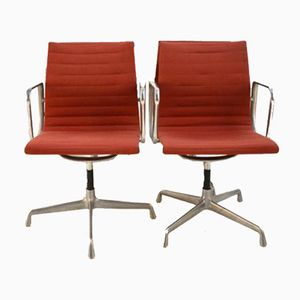EA 107 Desk Chairs by Charles and Ray Eames for Herman Miller, Set of 2