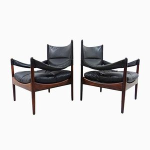 Rosewood Modus Easy Chairs by Kristian Vedel for Soren Willadsen, 1963, Set of 2