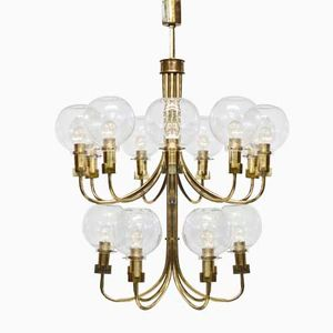 Large Chandelier by Hans Ange Jakobsson, 1960s