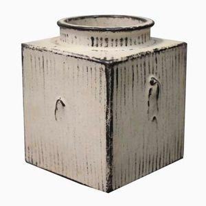 Square Ceramic Vase by Svend Hammershøj for Kähler, 1930s