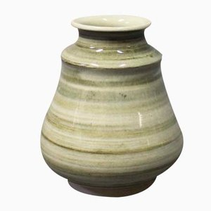 Green Ceramic Vase by Claus Ivansson for Höganäs, 1960s