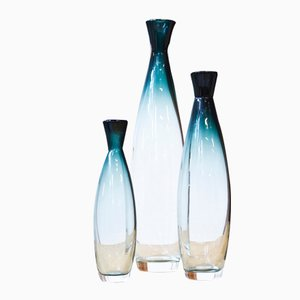 Tona Vases by Bengt Orup for Johnasfors Glasbruk, 1950s, Set of 3