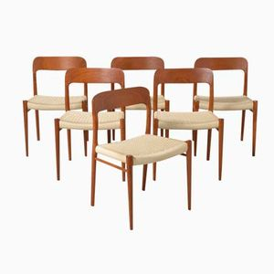 Dining Chairs by Niels O. Møller for J.L. Møller, 1950s, Set of 6
