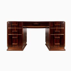 Art Deco Macassar Ebony Desk, 1930s