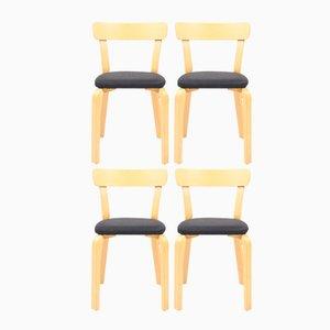 Vintage Modell 69 Stühle von Alvar Aalto für Artek, 4er Set