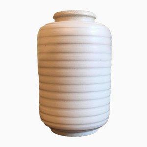 Vintage Carrara Steingut Vase von Wilhelm Kåge für Gustavsberg