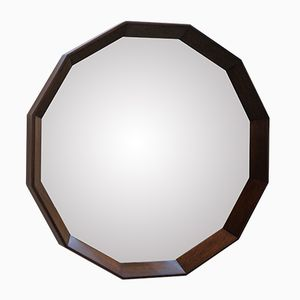 Italian Mirror with Solid Wooden Dodecagon Frame, 1950s