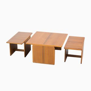 Coffee Table with Side Tables by Tobia Scarpa and Afra Scarpa for B & B Italia, 1970s