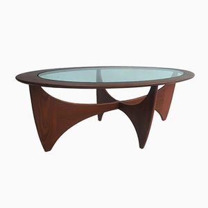 English Oval Solid Teak Coffee Table from G-Plan, 1960s