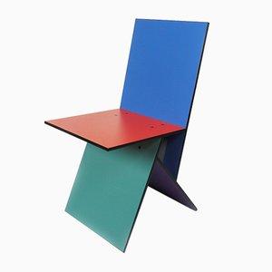 Chaise Vibert Multicolore par Verner Panton pour Ikea, 1993