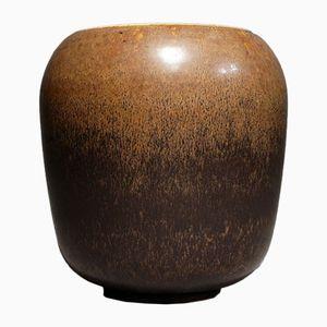 Vintage Hasenfell-Glasur Steingut Vase von Saxbo