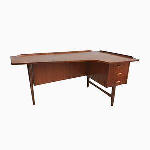 Vintage Teak Desk by Peter Lovig Nielsen for Hedensted Møbelfabrik