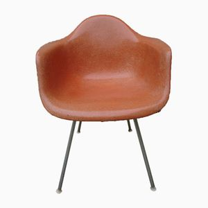 Vintage Orange DAX Chair by Charles & Ray Eames for Herman Miller, 1950s