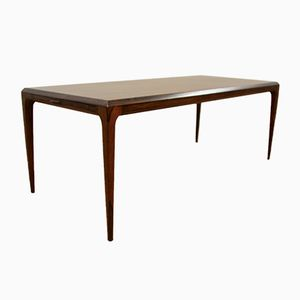 Danish Extendable Rosewood Coffee Table by Johannes Andersen for CFC Silkeborg, 1960s