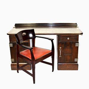 Antique Desk & Chair by Richard Riemerschmid for Deutsche Werkstätten, 1905