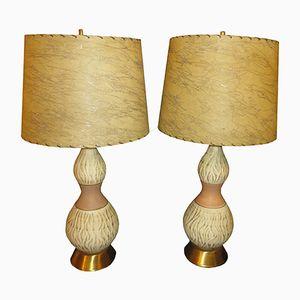 Lampes de Table Génie Mid-Century, Set de 2